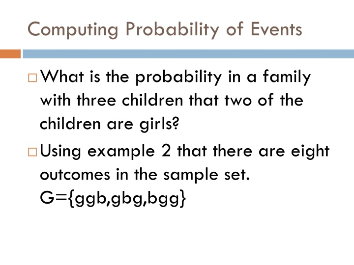 Computing Probability of Events