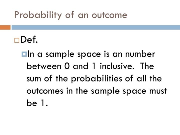Probability of an outcome