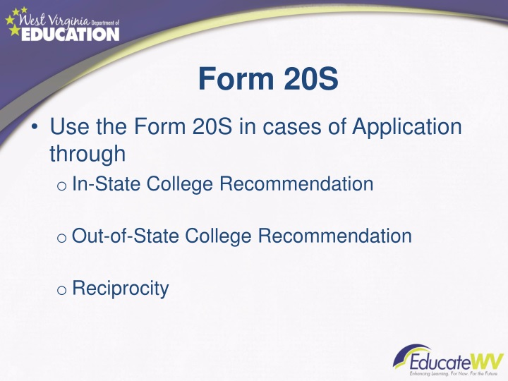 Form 20S