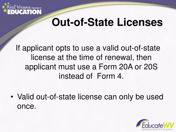 Out-of-State Licenses