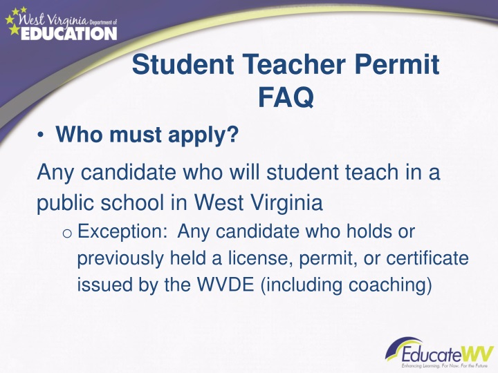 Student Teacher Permit