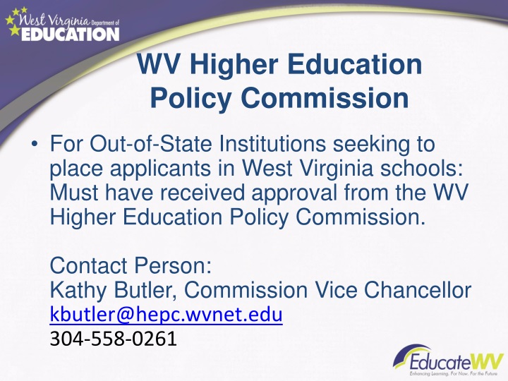 WV Higher Education
