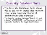 diversity database suite