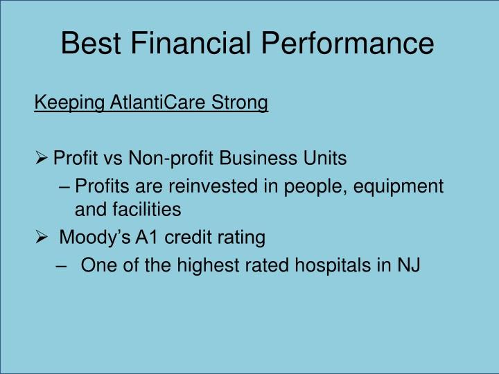 Best Financial Performance