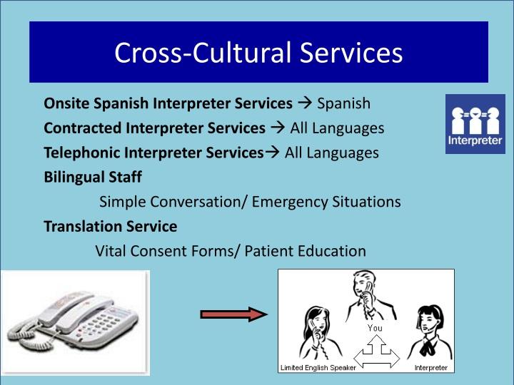 Cross-Cultural Services