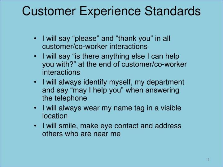 Customer Experience Standards