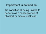 impairment is defined as