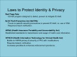 laws to protect identity privacy
