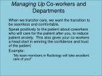 managing up co workers and departments