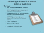 measuring customer satisfaction external customers