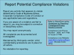 report potential compliance violations
