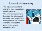 economic policymaking