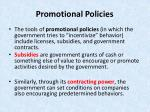 promotional policies1