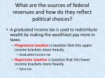 what are the sources of federal revenues and how do they reflect political choices