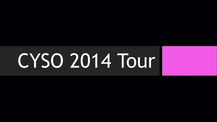 CYSO 2014 Tour