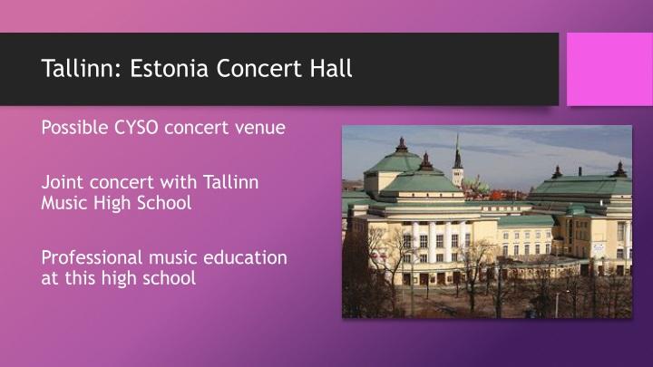 Tallinn: Estonia Concert Hall