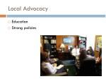 local advocacy