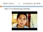 ruth s story la historia de ruth