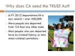 why does ca need the trust act
