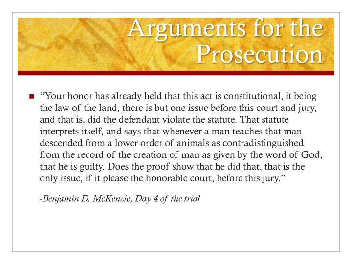 Arguments for the Prosecution