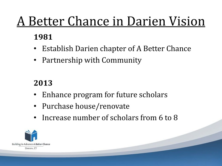 A better chance in darien vision