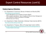export control resources cont d