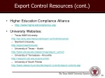 export control resources cont