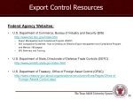 export control resources