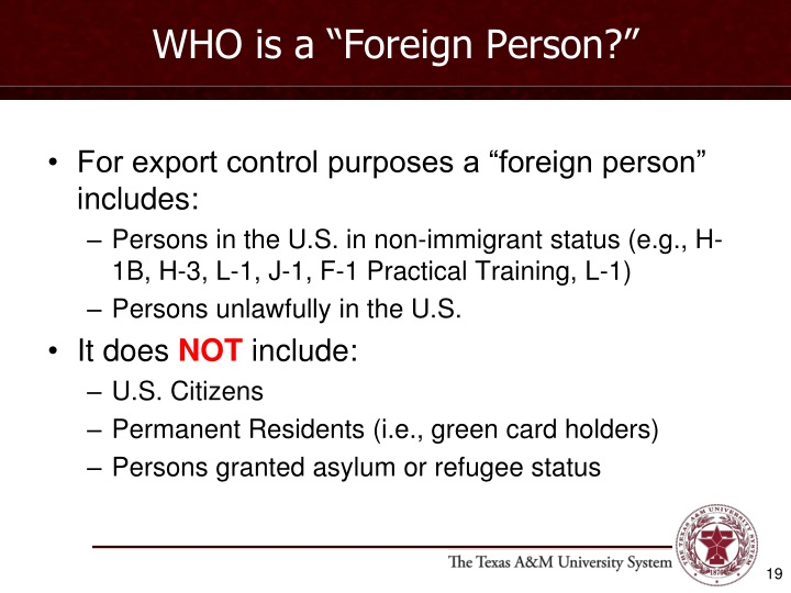 "WHO is a ""Foreign Person?"""