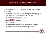 who is a foreign person