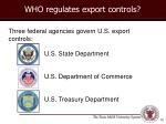 who regulates export controls