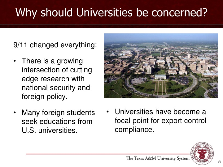 Why should Universities be concerned?