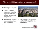 why should universities be concerned