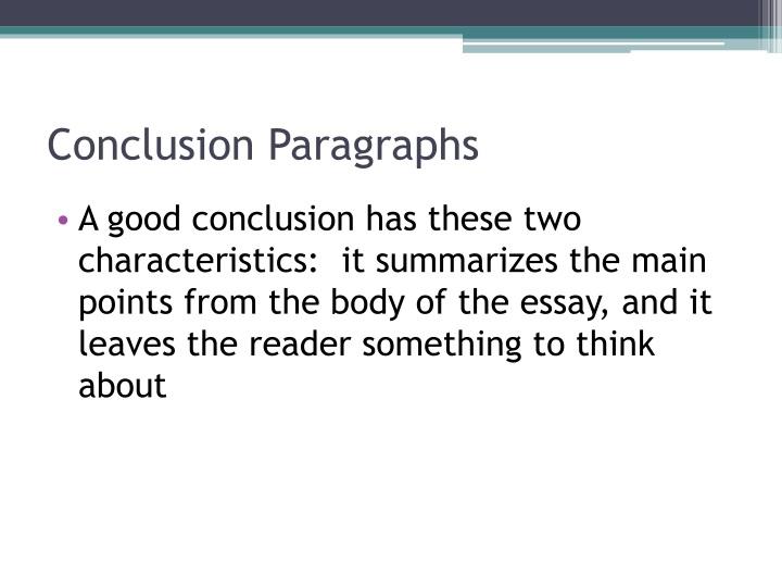 Conclusion Paragraphs