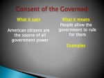 consent of the governed
