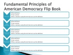 fundamental principles of american democracy flip book