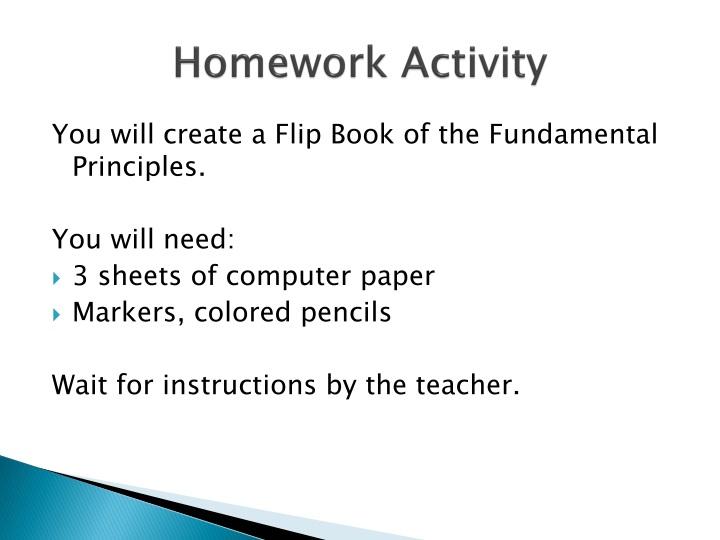 Homework Activity