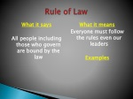 rule of law