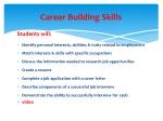 career building skills