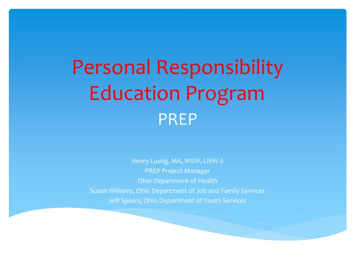 Personal Responsibility Education Program