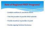 role of regional prep programs