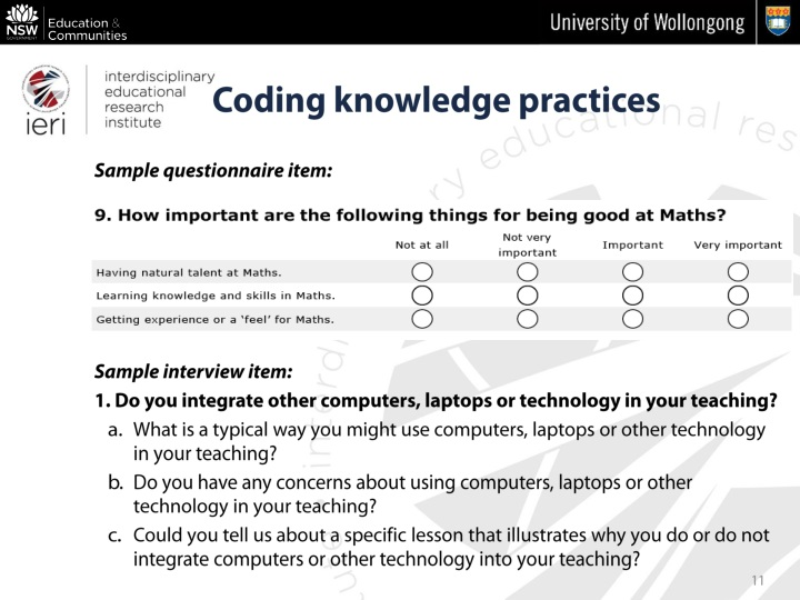 Coding knowledge practices
