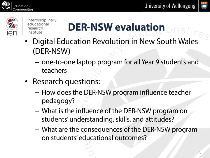 Digital Education Revolution in New South Wales (DER-NSW)