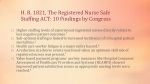 h r 1821 the registered nurse safe staffing act 10 findings by congress