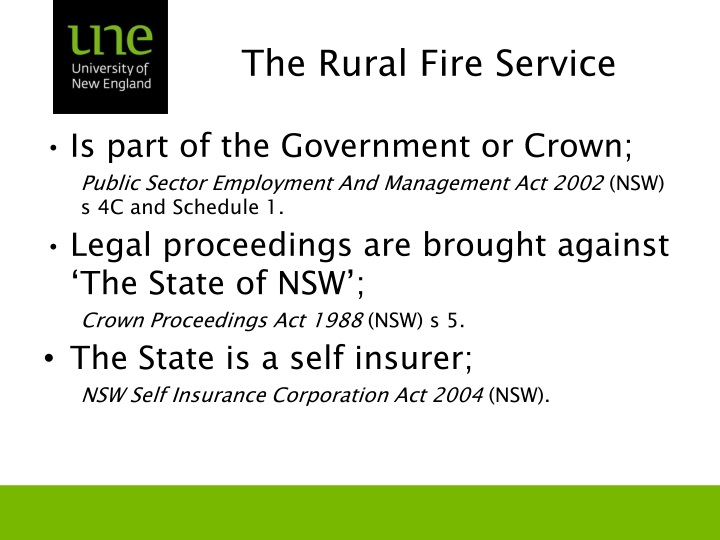 The Rural Fire Service
