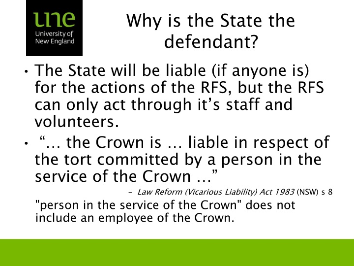 Why is the State the defendant?
