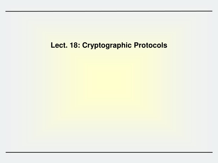 Lect 18 cryptographic protocols