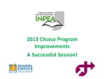 2013 choice program improvements a s uccessful session