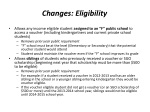 changes eligibility
