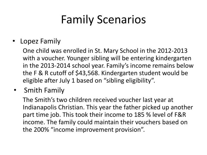 Family Scenarios